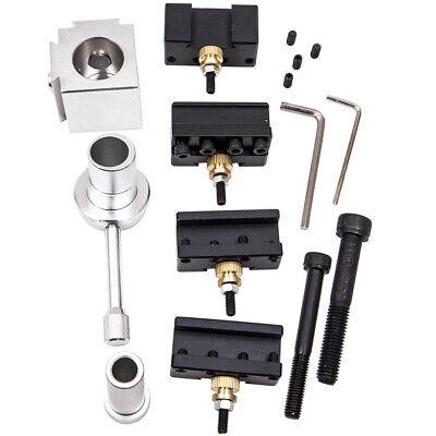 Aluminum Cutter Holder Lathe Tool Quick Change Post Screw Kit Set Boring Bar Kit