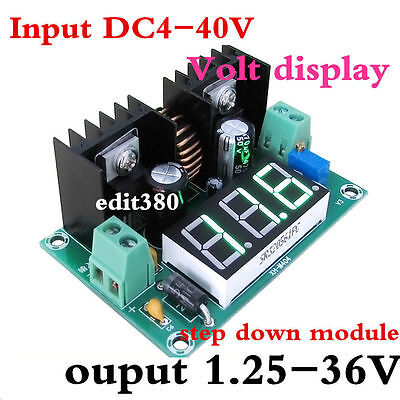 200W DC Wandler 8A  4-40V auf 1.2-36V 9V 12 24 Buck Step down Voltage Converter