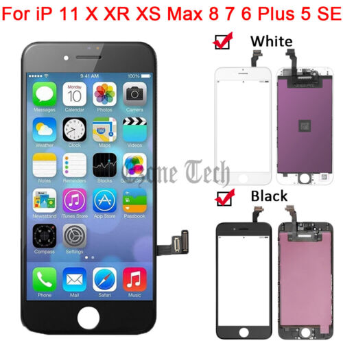 LCD Touch Screen Replacement for iPhone 11 X XR XS Max 6 7 8 Plus 5 5S 5C SE Lot
