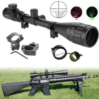 6-24x50 AOEG Jäger Zielfernrohr Luftgewehr Armbrust Rifle Scope +11 mm Montagen