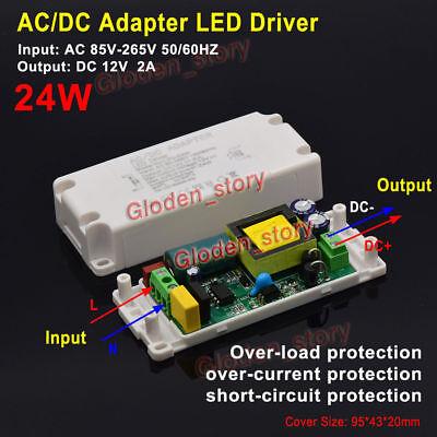 Ac-dc Converter Dc 12v 2a 24w Power Supply Adapter Transformer Led Light Driver