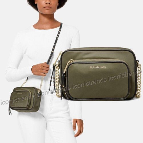 NWT 🍸 Michael Kors Leila Nylon Large Camera Bag  Crossbod