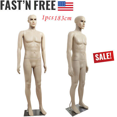 183cm Male Full Body Model Realistic Mannequin Plastic Shop Display With Base
