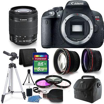Canon Rebel EOS T5i /700d 3Lens Kit EF-S 18-55 IS STM and Accessories
