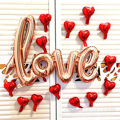 Hot 106*65cm Love Letter Script Foil Balloon Hen Party Wedding Engagement Decor - Engagment Party