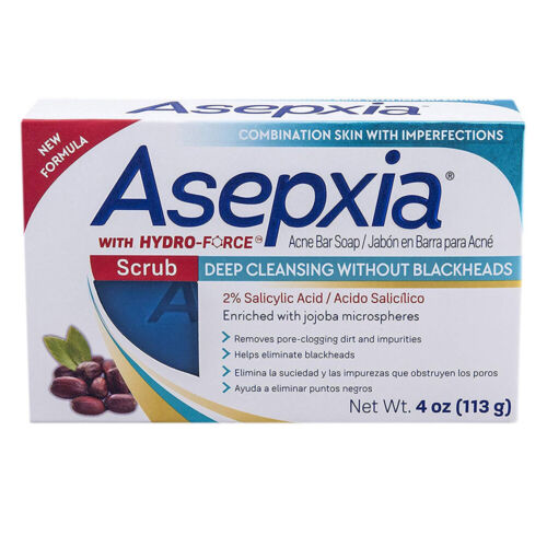 Asepxia Deep Cleansing Scrub Bar Soap. Acne Treatment With S