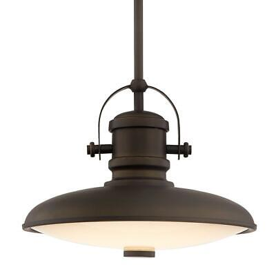 Home Decorators Collection 12 in. 1-Light Integrated LED Aged Bronze Pendant