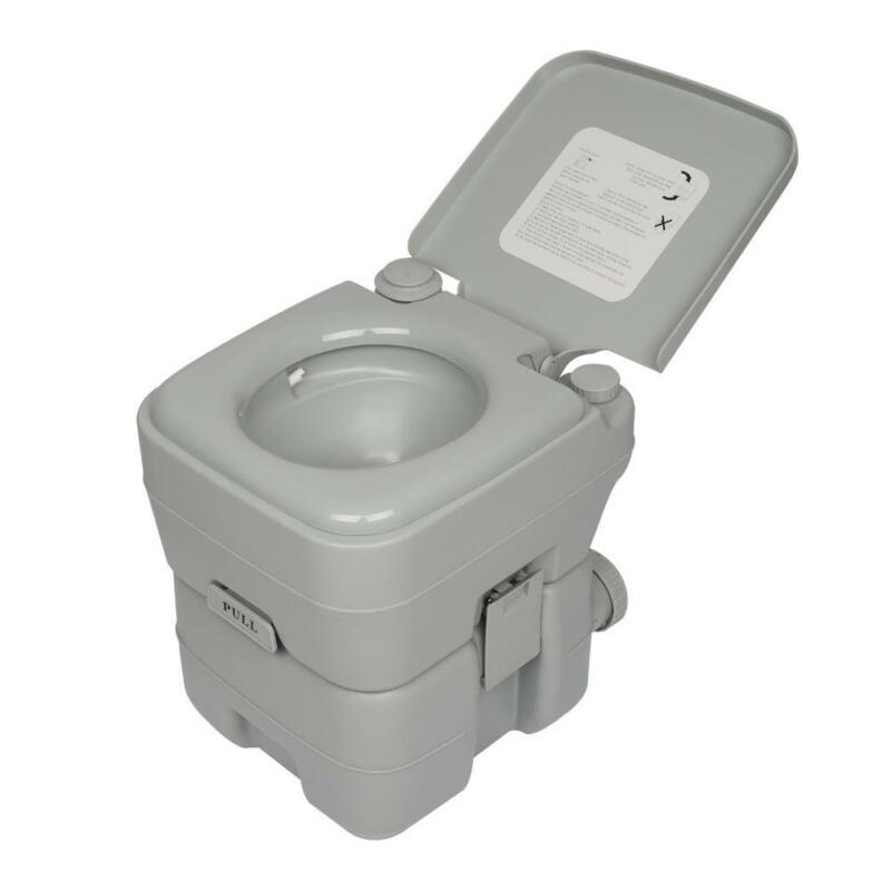 Camping Camper Motorhome Toilet 20L 5 Gallon WC Chemical Porta Potti Outdoor New
