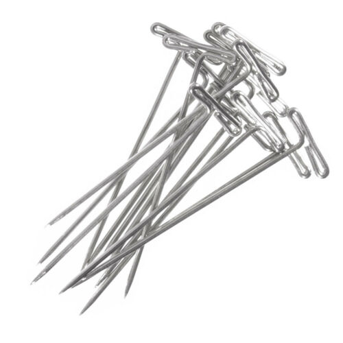 Craft County Steel T-Pins 35 Piece Pack for Macramé, Knotting & Weaving - 1.4""
