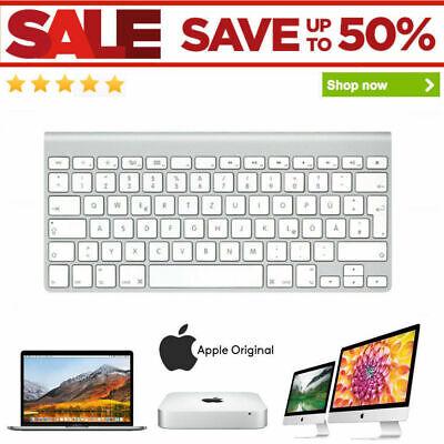 Apple Wireless Keyboard A1314 QWERTZ MC184LL/B Bluetooth iMac Excellent Grade