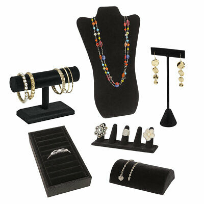 Jewelry Display Bundle - Black Velvet - 6 Displays Included