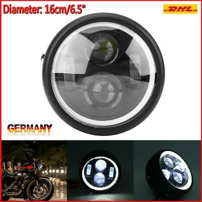 "Motorrad 6.5"" LED Hauptscheinwerfer Frontlampe f. Sportster Cafe Racer AUTO GP"
