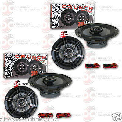Brand New 4 X Crunch 6 5 Inch 6 1 2  3 Way Car Audio Coaxial Speakers 300 Watts