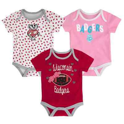 Newborn Football Jersey Shirt - (3) Wisconsin Badgers ($32) ncaa INFANT BABY NEWBORN Jersey Shirt 18M 18 Months