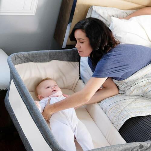 Mika Micky MM08000 Bedside Sleeper Portable Crib - Grey