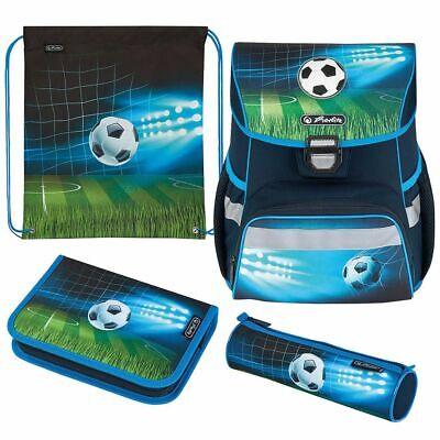 Herlitz Schulranzen Set Loop Plus Soccer 4-teilig Schultasche Jungen Fussball