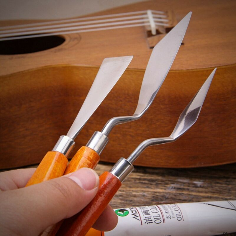 Stainless Steel Palette Knife Scraper Spatula For Artist Oil Painting Tool Set