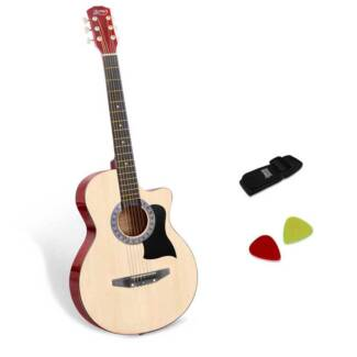 38' Wooden Acoustic Guitar Folk Classical Cutaway Strings Bag N
