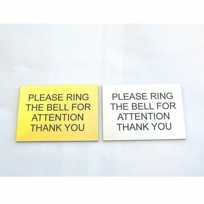 Bell Plaque (Engraved Plaque Ring The Bell For Attention Reception Hotel Sign Plaque)