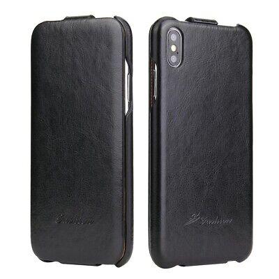 iPhone XS / Apple iphone X Farbe Schwarz Schutzhülle Leder Case Flip Klappe Farbe Flip Case