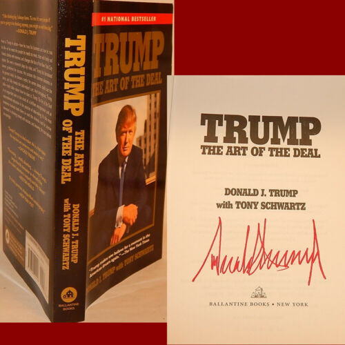 """AUTOGRAPHED """"Art of the Deal"""" Book SIGNED by PRESIDENT DONALD TRUMP w/Proof"""