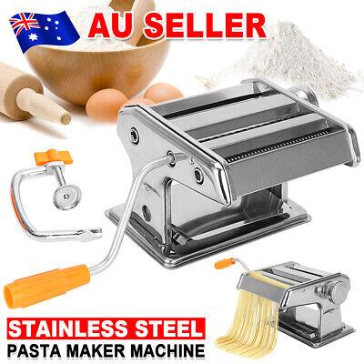 Stainless Steel Pasta Machine for Fresh Spaghetti Noodle Fettuccine Maker Roller
