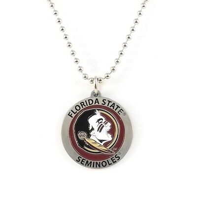 FLORIDA STATE SEMINOLES LARGE PENDANT NECKLACE 24213 new college sports jewelry