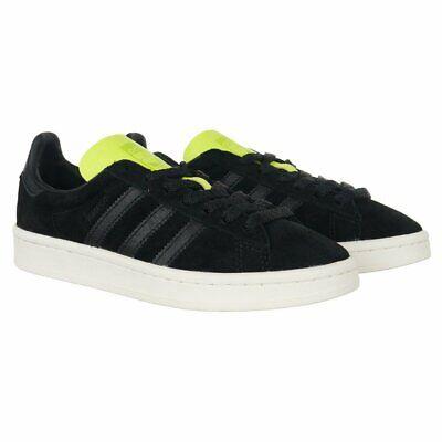 Unisex Adidas Originals Campus Schuhe schwarz Leder Everyday Trainer