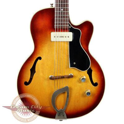 VINTAGE 1960 GUILD M-65 M65 M 65 FRESHMAN 3/4 SIZE HOLLOW BODY ELECTRIC GUITAR