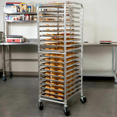 20 Pan End Load Bun Speed Rack Commercial Dough Baking Full Sheet Pizza Bakers