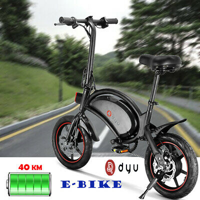 DYU Bicicleta eléctrica plegable ciclomotor asistido pedal E-Bike sin cadena