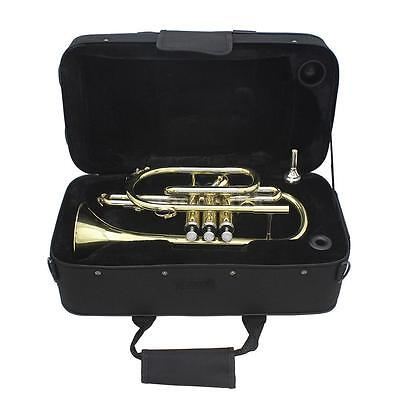 Professional Bb Flat Cornet Brass Instrument with Case Grease Brushes J7P9