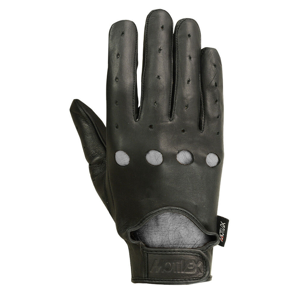 Mens Motorcycle Gloves Leather Bikers Car Driving Full Finger Black 3 Styles MRX