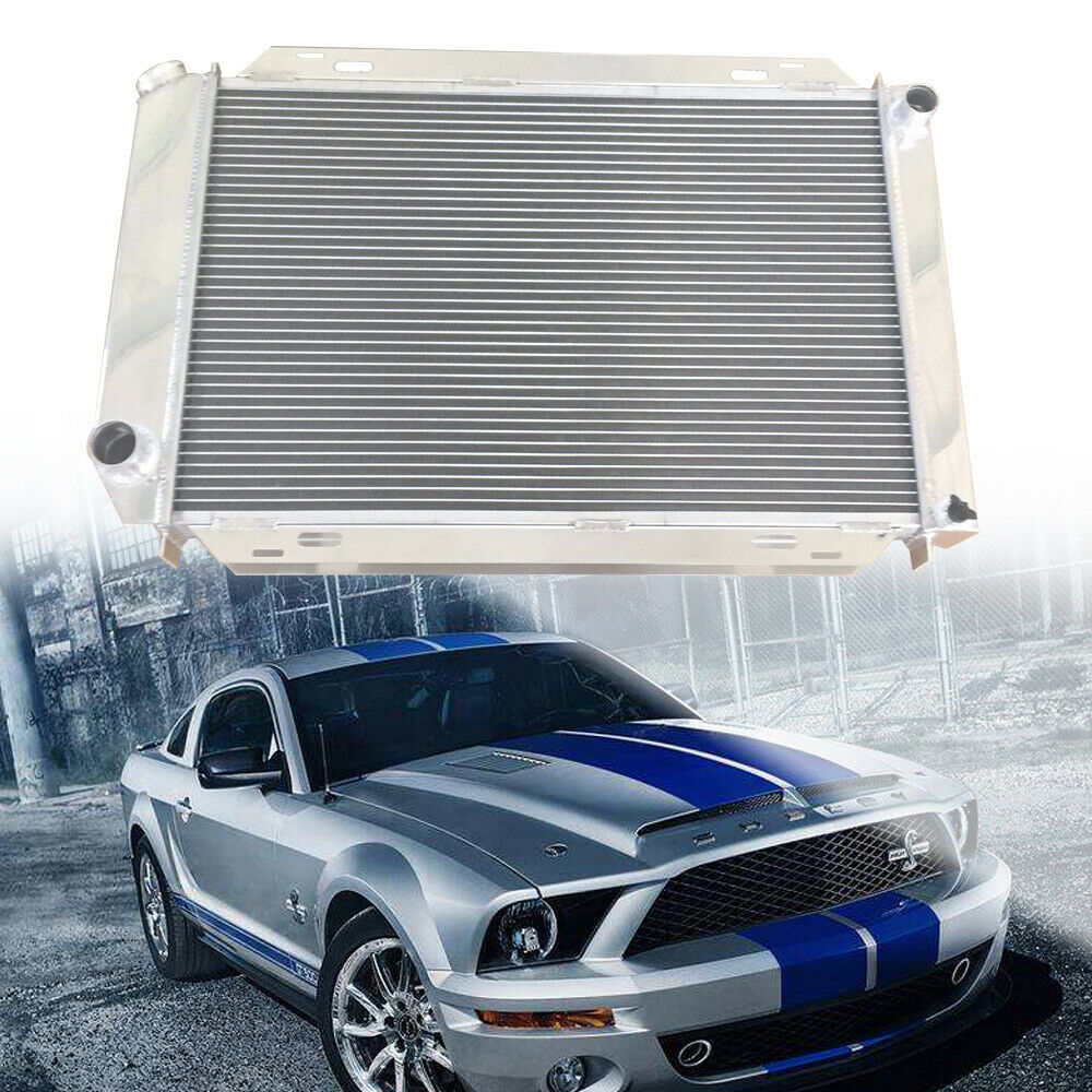 Details about fit for 1979 1993 ford mustang gt lx 5 0l v8 302 aluminum racing radiator new