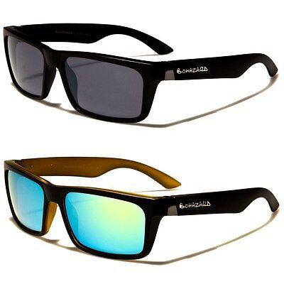 Biohazard Rectangle Vintage Two-Tone Shades Men's Designer (Two Tone Sunglasses)