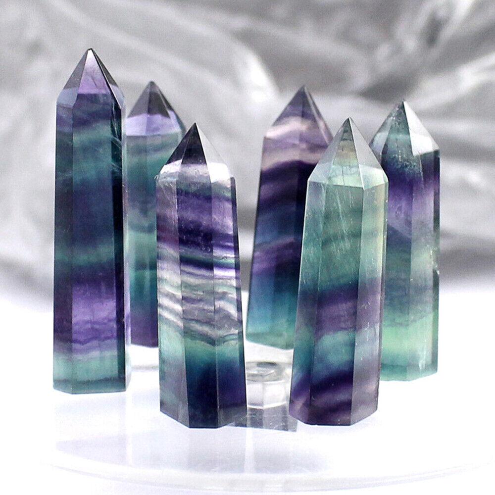 Natural Fluorite Crystal Quartz Tower Point,Fluorite Crystal Point,Crystal Point,Healing Stone,Spiritual Stone,Chakra Stone,Reiki,Chakra