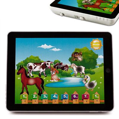 Kinder Lerncomputer Lern Spiel Tablet Pad Spielzeug Game Tiere Stimmen Klavier ()