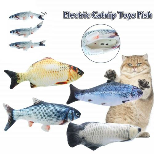 Electric Cat Wagging Fish Pet Wagging Fish Toy USB Charging Simulation Fish Toys Cat Supplies