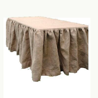Burlap Table Skirt 17 Feet