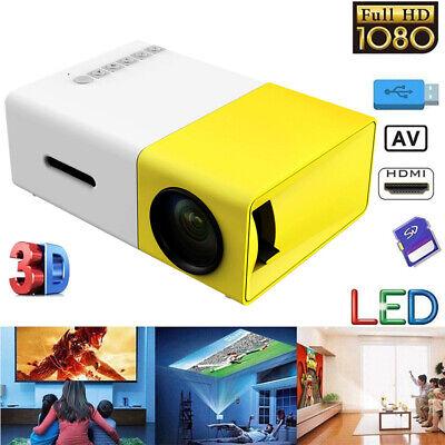 Tragbar Mini 1080p LED LCD 3D Beamer Heimkino Projektor für Tablet PC Handy E6W2