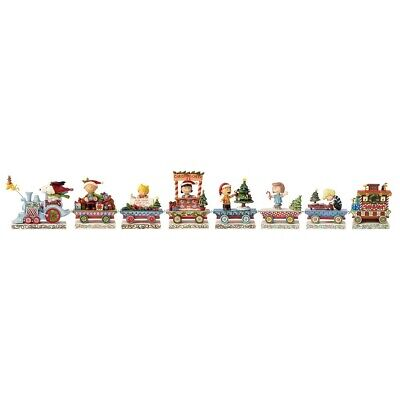 Enesco E1 Jim Shore Peanuts Christmas Train 8pc Gift Set 4.75 in H 4062623