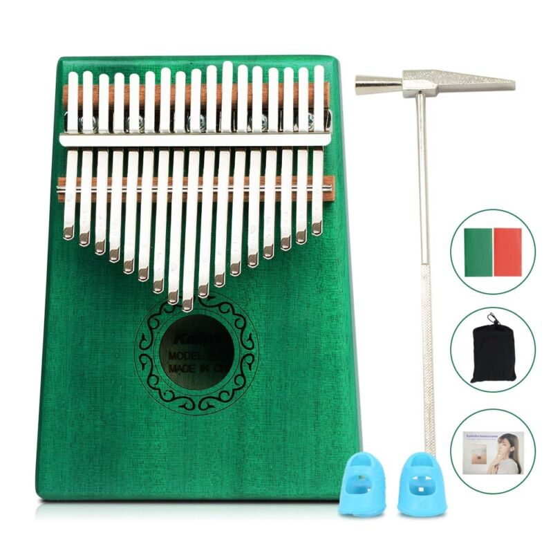 17 Key Kalimba Thumb Piano Finger Mbira Wood Mahogany Keyboard Music Instrument