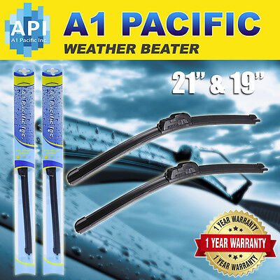 All season Bracketless J HOOK Windshield Wiper Blades OEM QUALITY 21  19