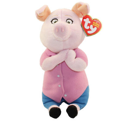 "TY Beanie Baby 6"" ROSITA the Mom Pig Sing Plush Stuffed Animal MWMT's Heart Tags"