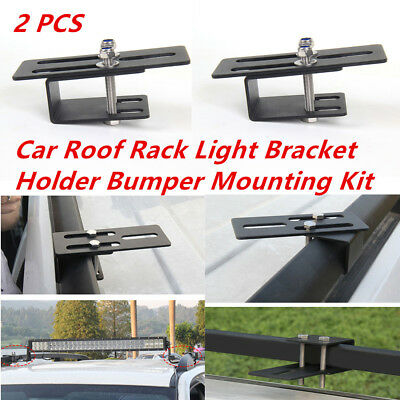 Universal Car Roof Rack Light Bracket Holder Bumper Mount Kit for LED Light Bar comprar usado  Enviando para Brazil