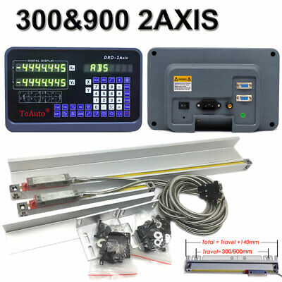 2axis 9x42 Bridgeport Table Linear Scale 12 36 Digital Readout Dro Display 5m