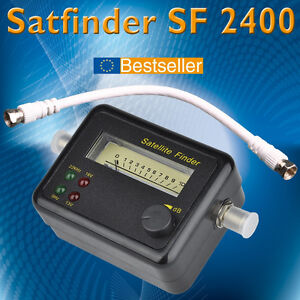 SF-2400-SAT-Finder-Satfinder-Satelliten-Finder-SF2400-m-Ton-Kabel-2-F-Stecker