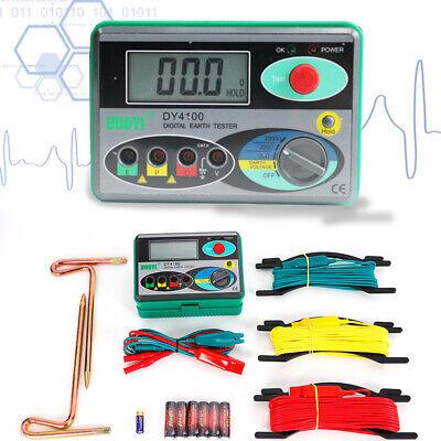 Dy4100 Earth Ground Resistance Tester Digital Lcd Display Meter Resistance Tool