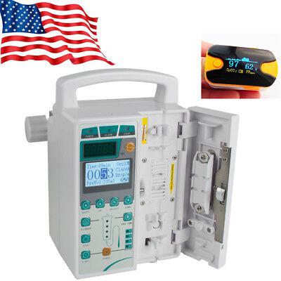 Us Fast Infusion Pump Iv Fluid Equipment Oice Alarm Monitor Kvo Purge Medical Ce