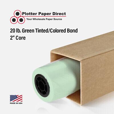 36 X 150 20lb Green Colored Bond Plotter Paper For Wide Format Inkjet Printers